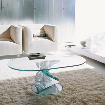 Ariel Coffee Table, Extra Clear Transparent