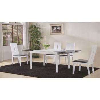 Gianni 6016 5-Piece Dining Set, Composition 2, White
