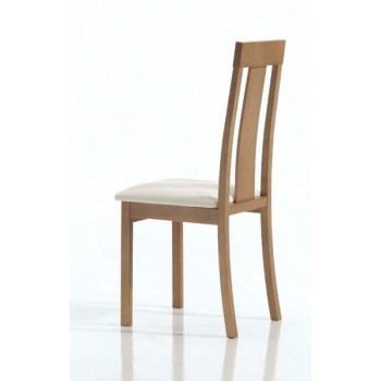 Ania Dining Chair, Brown Base, Beige Upholstery