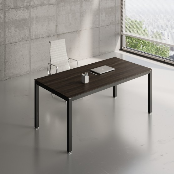 Impuls Desk IM05, Black + Chestnut photo