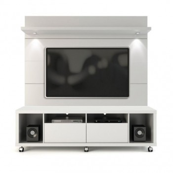 "Cabrini 71"" TV Stand & Panel, White Gloss"