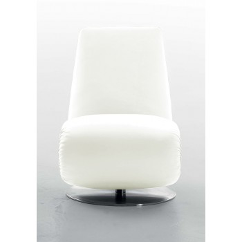 Ricciolo Chaise Lounge, White Leather