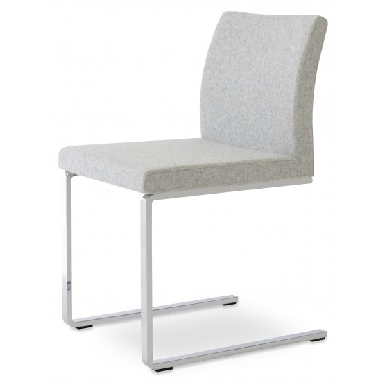 Aria Flat Dining Chair, Silver Camira Wool photo
