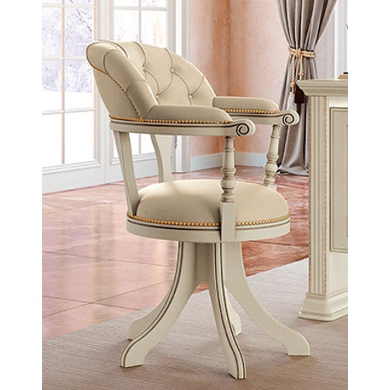 Torriani Low Back Office Chair, Ivory photo