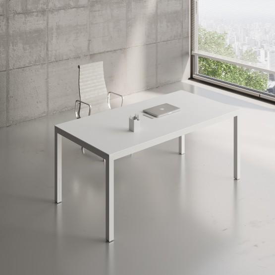 Impuls Desk IM05, All White Pastel photo