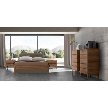 Akademy Euro King Size Storage Bedroom Set w/Wooden Ring