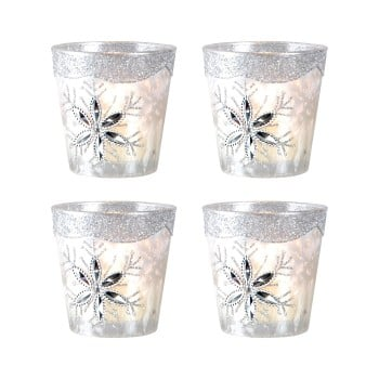 Gilded Ice Votive, Small, Set of 4