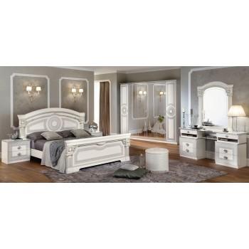 Aida King Size Bedroom Set, White