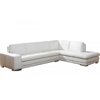 Block Sectional, Right Arm Chaise Facing, White