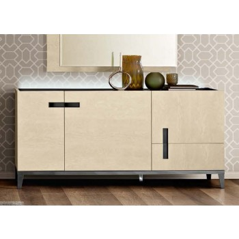 Ambra 3-Door Buffet w/Wooden Door