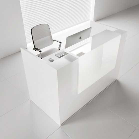 Tera TRA18 Reception Desk, White Pastel photo
