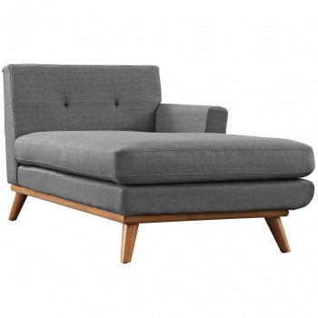Engage Right-Arm Chaise, Gray by Modway