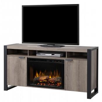Pierre Media Console Electric Fireplace, Steeltown Finish, Realogs (XHD26) Firebox