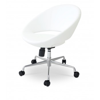 Crescent Office Chair, Base A3, White PPM by SohoConcept Furniture
