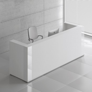 Tera TRA123 Reception Desk, White Pastel