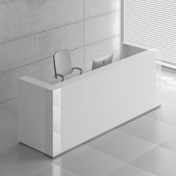 Tera TRA124 Reception Desk, White Pastel