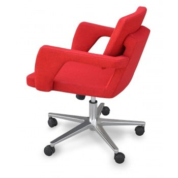 Adam Office Chair, Base A1, Red Camira Wool by SohoConcept Furniture