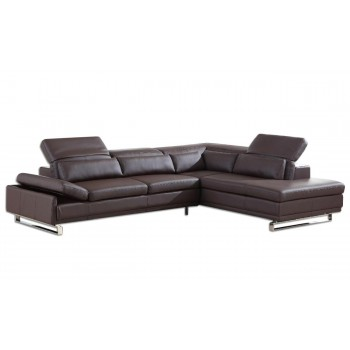 Cliff Sectional, Right Arm Chaise Facing, Brown
