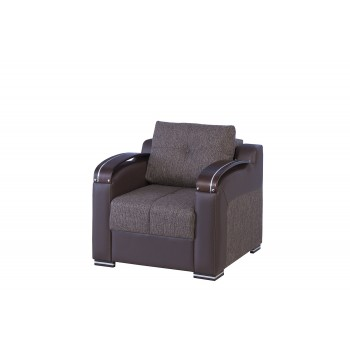 Divan Deluxe Stationary Chair, Kalinka Brown by Casamode