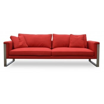 Boston Sofa, Red Fabric by SohoConcept Furniture