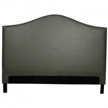 Chloe Queen Bonded Leather Headboard, Vintage Gray by NPD (New Pacific Direct)