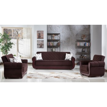 Argos 3-Piece Living Room Set, Colins Brown