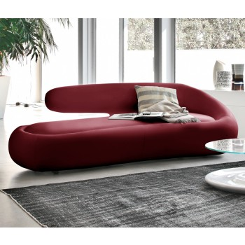 Duny Sofa, Burgundy Red Leather