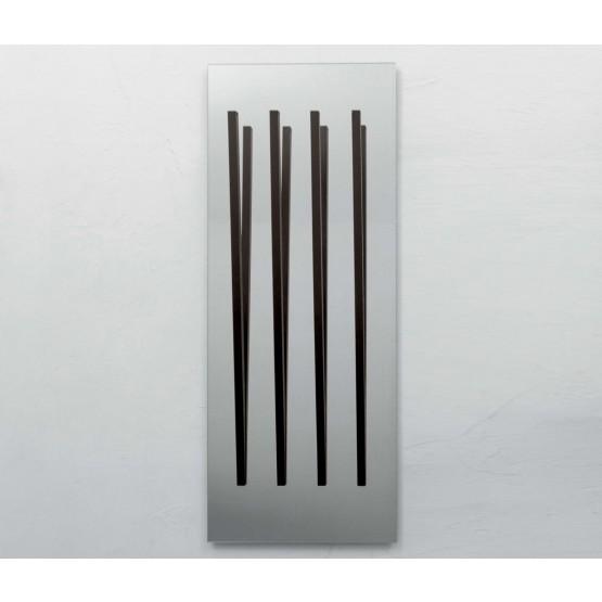 Alicante Silver Mirror with Coat Hanger, Dark Oak Heat-Treated photo