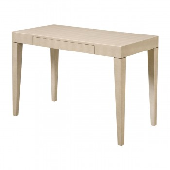 Oceana Hardwood Table In Cream Shagreen