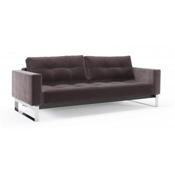 Cassius Deluxe Excess Queen Size Sofa Bed, 866 Vintage Velvet Mauve