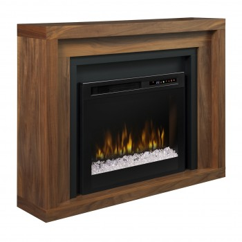 Anthony Mantel Electric Fireplace, Natural Walnut Finish, Acrlyic Ice (XHD28) Firebox