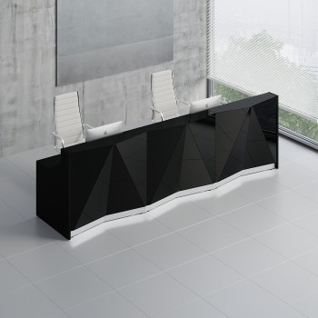 Alpa ALP07 Reception Desk, Black