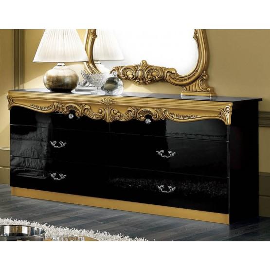 Barocco Double Dresser, Black + Gold photo