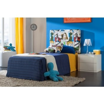 702C Comic 3-Piece Euro Twin Size Storage Kids Room Set