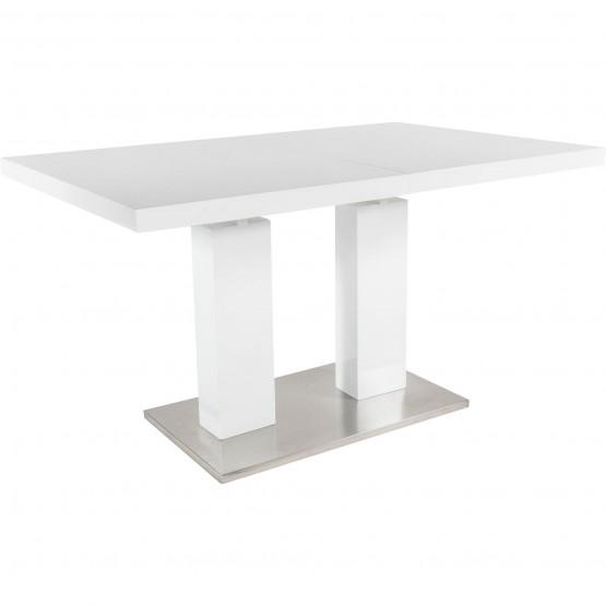 Delfina Extendable Dining Table, White photo