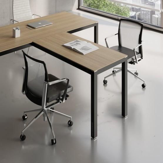 Impuls Desk Extension IM07, Black + Canadian Oak photo