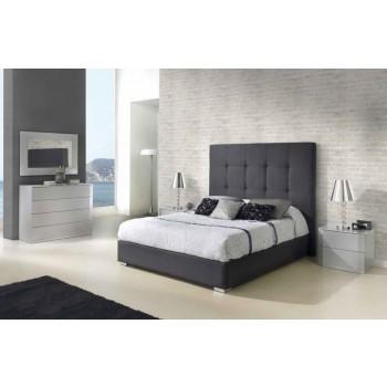 638 Patrisia 3-Piece Euro Queen Size Storage Bedroom Set, Grey