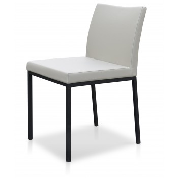 Aria Dininng Chair, Black Powder Base, Grey PPM by SohoConcept Furniture