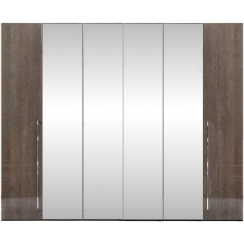 Platinum 6-Door Wardrobe w/Mirror
