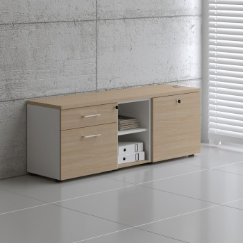 Managerial Storage A12M, White + Beech