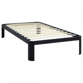 Corinne Twin Bed Frame, Brown by Modway
