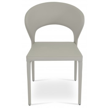 Prada Full Upholstered Stackable Chair, Bone PPM by SohoConcept Furniture