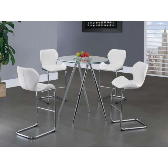 D1503 5-Piece Dining Room Set, White photo