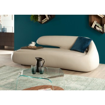 Duny Sofa, Beige Eco-Leather