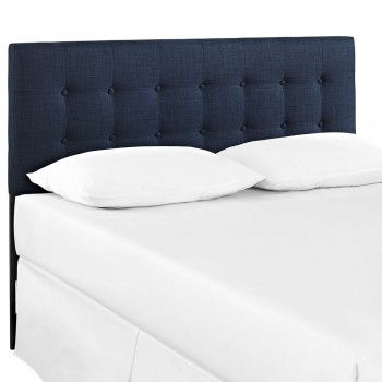 Emily Queen Fabric Headboard, Navy by Modway