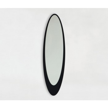 Olmi Silver Mirror, Black