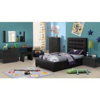 Athens 3-Piece Twin Size Bedroom Set, Black by At Home USA