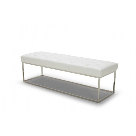 Chelsea Lux Bench, White photo