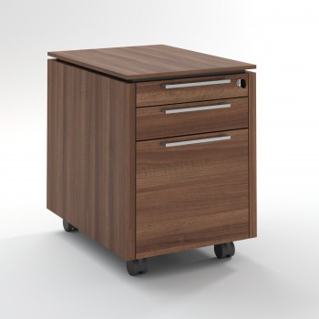 Status Mobile Pedestal w/Files Drawer XKD12, Lowland Nut