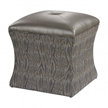 Luxe Ottoman In Grey
